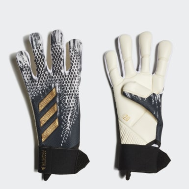 Football Black Predator 20 Competition Goalkeeper Gloves