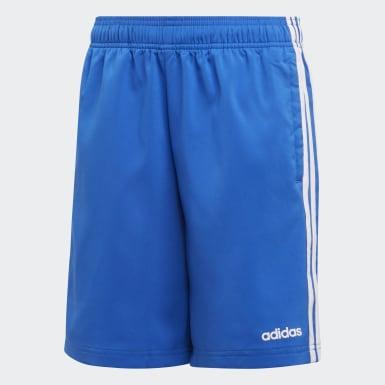 Jongens Training Blauw Essentials 3-Stripes Woven Short