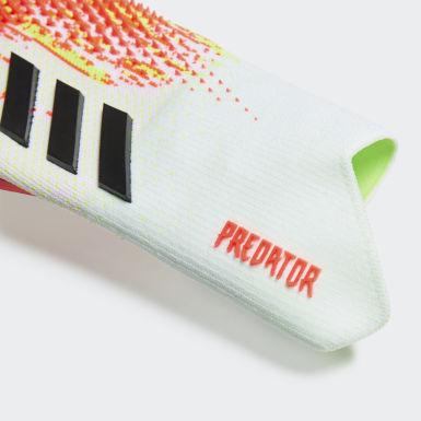 Men Football White Predator 20 Pro Hybrid Promo Goalkeeper Gloves