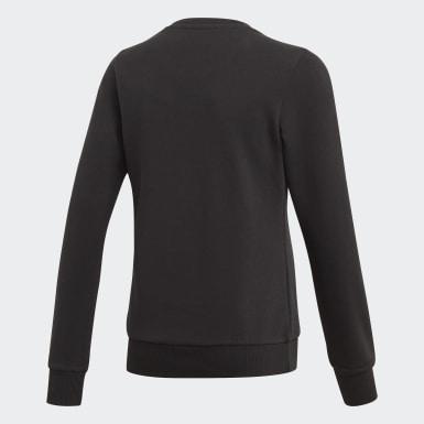 Sweatshirt Linear Preto Raparigas Athletics