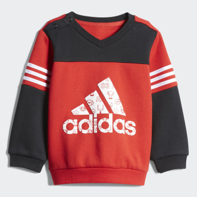 Kids Training Red Football Crew Set