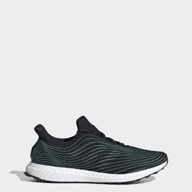 Men Running Black Ultraboost DNA Parley Shoes