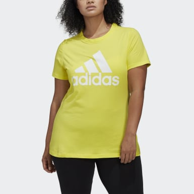 Women Athletics Yellow Must Haves Badge of Sport T-Shirt (Plus Size)