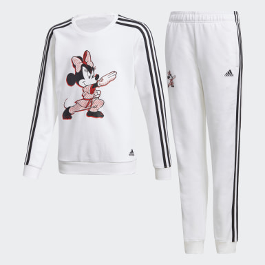 Kids 4-8 Years Training White Minnie Mouse Karate Tracksuit