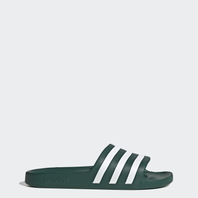 Men Swimming Green Adilette Aqua Slides