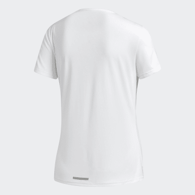 Camiseta Running 3 bandas Blanco Mujer Hockey Hierba