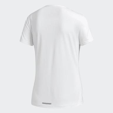 Frauen Feldhockey Running 3-Streifen T-Shirt Weiß