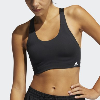 Women Winter Sports Black High-Support Bra