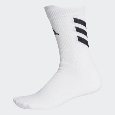 Tennis White Alphaskin Crew Socks