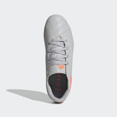 Zapatos de Fútbol Nemeziz 19.4 Multiterreno Gris Niño Fútbol