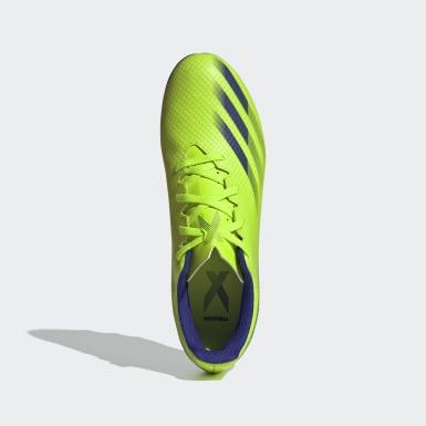 ผู้ชาย ฟุตบอล สีเขียว รองเท้าฟุตบอล X Ghosted.4 Flexible Ground