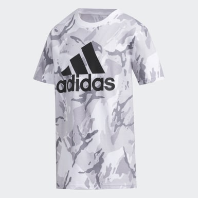 Youth Training White Classic Camo Tee