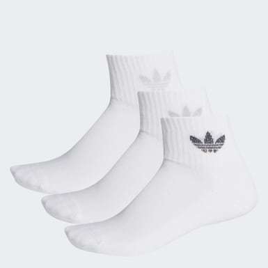 Women Originals White Mid-Cut Ankle Socks 3 Pairs