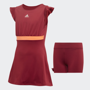 G RIBBON DRESS Burgundy Niña Tenis