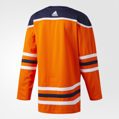 Hockey Orange Oilers Home Authentic Pro Jersey