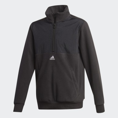 Boys Athletics Black Classics Warm Quarter-Zip Sweatshirt
