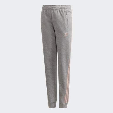 Girls Træning Grå 3-Stripes Tapered Leg bukser