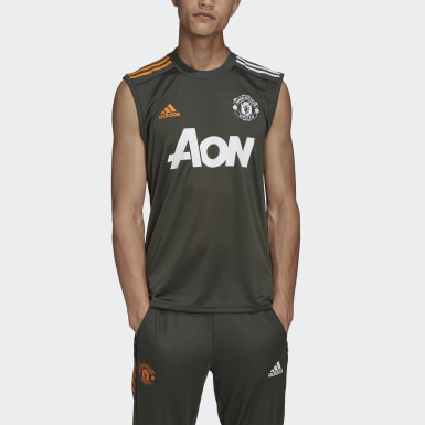 Men Football Green Manchester United Training SL Jersey