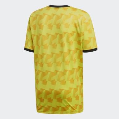 Männer Fußball TAN Trikot Gelb
