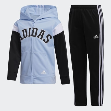 Children Training Blue Hooded Jacket and Joggers Set