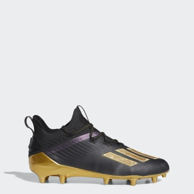 Men's Football Black Adizero Cleats