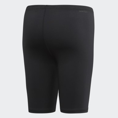Boys Swimming Black Pro Swim Jammers