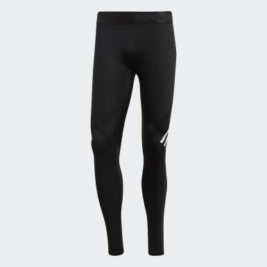 Muži Pozemní Hokej černá Legíny Alphaskin Sport+ Long 3-Stripes