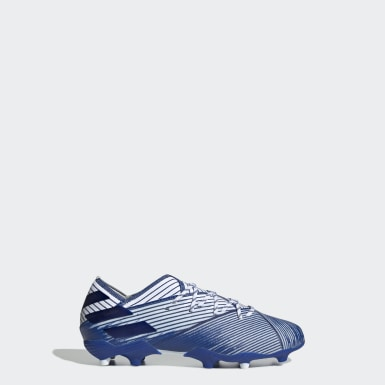 Boys Fodbold Hvid Nemeziz 19.1 Firm Ground støvler