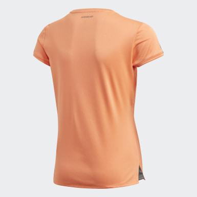Meisjes Padel Tennis Oranje Club T-shirt