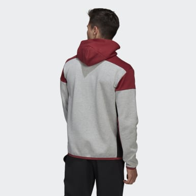 Hoodie adidas Z.N.E. Full-Zip Grigio Uomo Athletics
