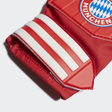 Gants d'entraînement de gardien de but FC Bayern Rouge Enfants Football