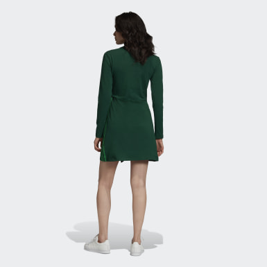 Women Originals Green Long Sleeve Dress