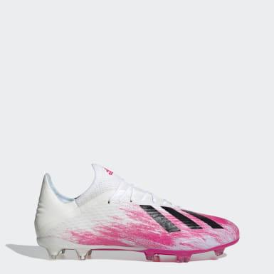 Fodbold Hvid X 19.2 Firm Ground støvler