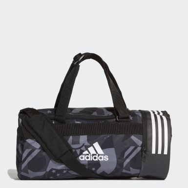 Training Zwart 3-Stripes Convertible Graphic Duffeltas Small