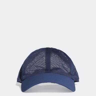 เทรนนิง สีน้ำเงิน หมวกเบสบอลผ้าตาข่าย