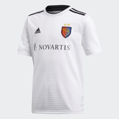 Børn Fodbold Hvid FC Basel udebanetrøje
