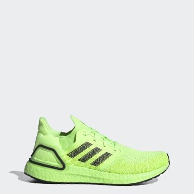 Sapatos Ultraboost 20 Verde Homem Running