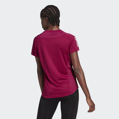 Camiseta Own the Run Burgundy Mujer Running