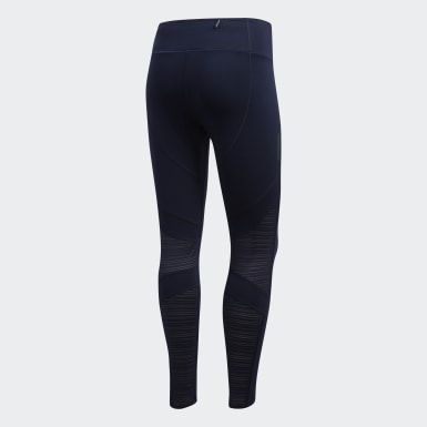 Women Running Blue How We Do 7/8 Light Tights