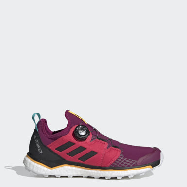 Women TERREX Purple Terrex Agravic Boa Trail Running Shoes