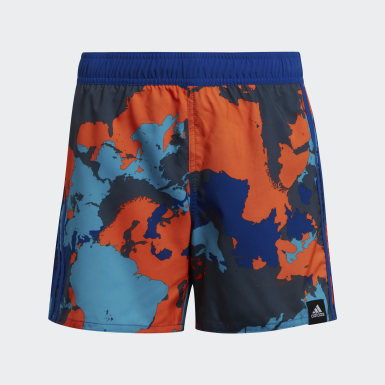 Boys Swimming Blue Boys Camo Swim Shorts