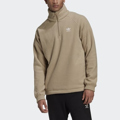 Heren Originals Bruin Adicolor Polar Fleece Sweatshirt