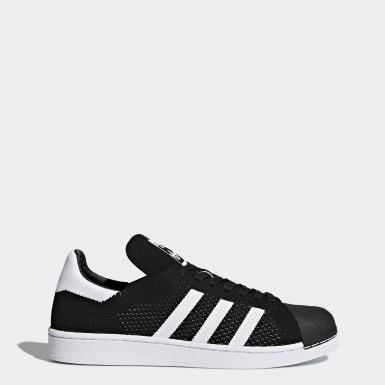 Men Originals Black Superstar Primeknit Shoes