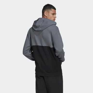 Hoodie adicolor Sliced Trefoil Nero Uomo Originals