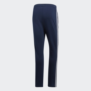 Men Lifestyle Blue Essentials 3-Stripes French Terry Pants