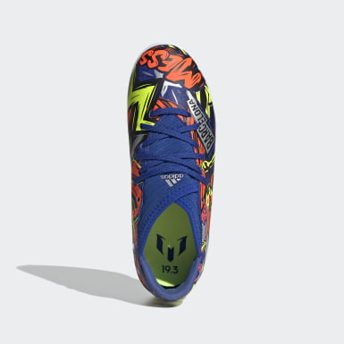 Calzado Nemeziz Messi 19.3 Cancha Cubierta Azul Niño Fútbol