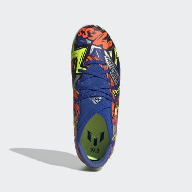 Children Soccer Blue Nemeziz Messi 19.3 Indoor Shoes