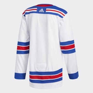 Men Hockey Multicolor Rangers Away Authentic Pro Jersey