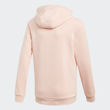 Sweat-shirt à capuche Trefoil Rose Filles Originals