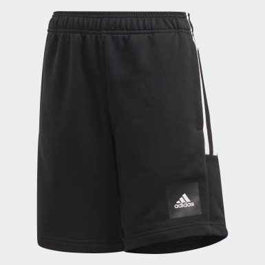Youth 8-16 Years Training Black Must Haves 3-Stripes Shorts